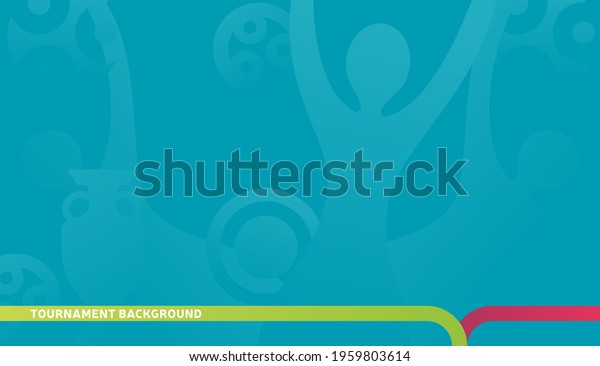 Football championship 2020 blue background vector stock illustration. euro 2020 Abstract background soccer or football texture. Poster Championship trend Wallpaper.