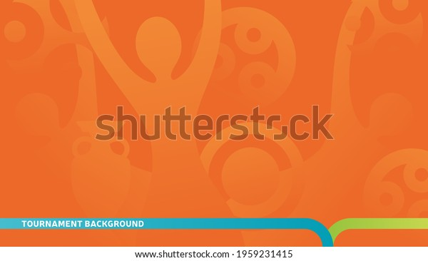 Football championship 2020 orange background vector stock illustration. euro 2020 Abstract background soccer or football texture. Poster Championship trend Wallpaper.