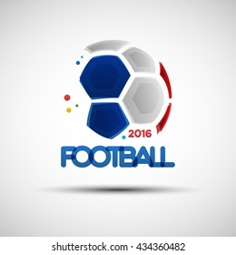 Football championship banner. Vector illustration of abstract soccer ball for your design