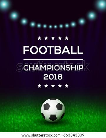 football championship poster flyer banner template stock vector