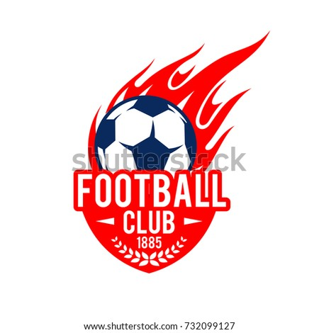 football club icon template soccer ball のベクター画像素材