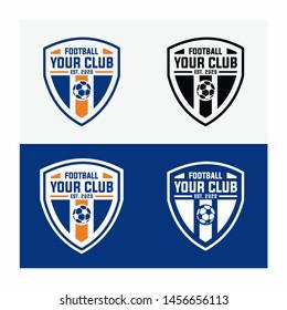 Football club logo design template vector Soccer Team emblem image