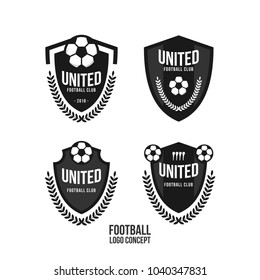 Football Club Logo Set Vector Template Design