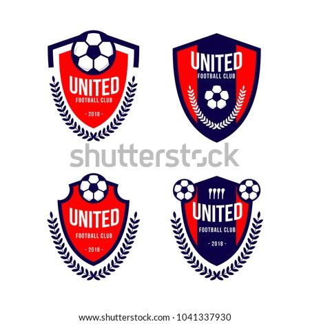 Football Club Logo Set Vector Template Stock Vector Royalty Free
