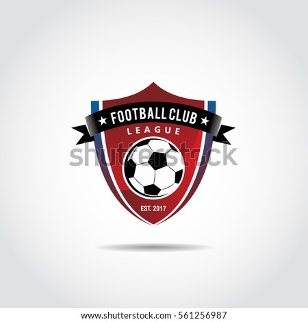 Football Club Logo Template. Vector Illustrator Eps.10