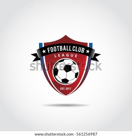 Football Club Logo Template Vector Illustrator Stock Vector Royalty