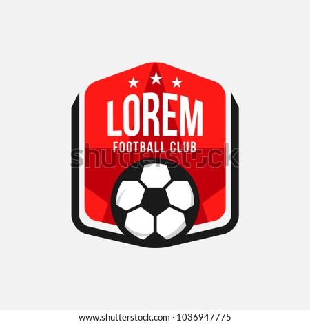 Football club logo vector template design stock vector royalty free football club logo vector template design maxwellsz