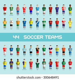 Football club Soccer Players silhouettes. Computer game team big set. Sports infographic. Digital background vector illustration.