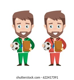 Trainer Fussball Stock Photos People Images Shutterstock