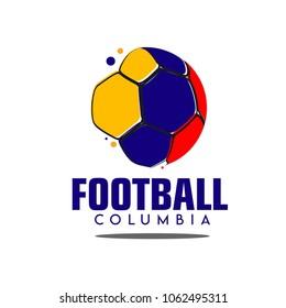 Football Columbia Logo Vector Template Design Illustration
