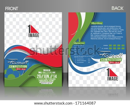 Football Competition Flyer Magazine Cover Poster Stock Vector