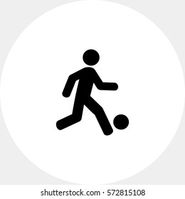 Football Concept with Man and Ball Icon