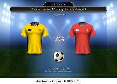 2b212b2be Football cup 2018 group F, Sweden VS South Korea, Soccer jersey mock-up