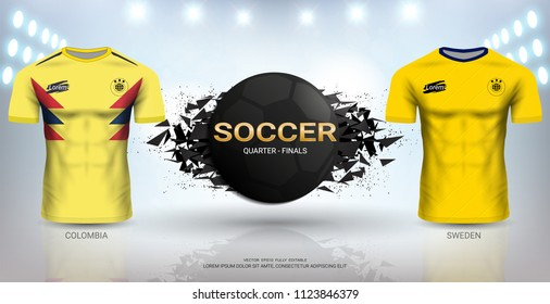 beda82c89 Football Cup 2018 World Championship Quarter-Final of the Competition,  Sweden VS Colombia,