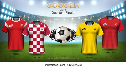 b15f34265 Football Cup 2018 World Championship Quarter-Final of the Competition