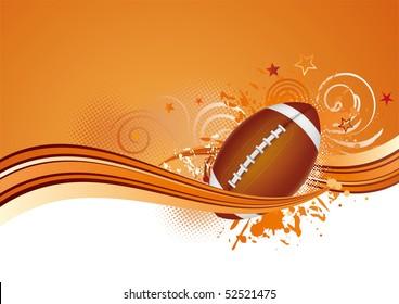 football design elements,orange background