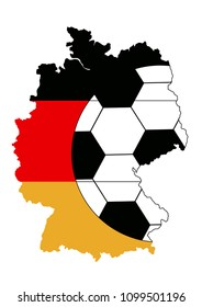 Football design for Germany. With map in national colors and football. EPS 10 vector file