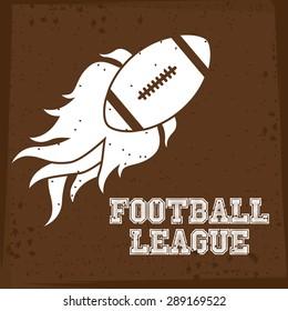 Football design over brown background, vector illustration