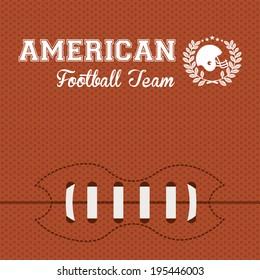 Football design over orange background, vector illustration