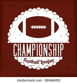 Football design over red background, vector illustration