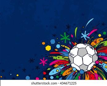 Football doodles ornament background. Soccer bright sketches. European football theme sport wallpaper.