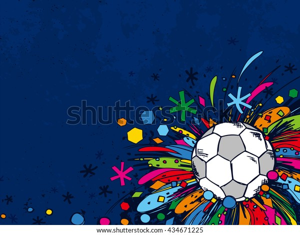 Sport Wallpaper Doodle: Football Doodles Ornament Background Soccer Bright Stock