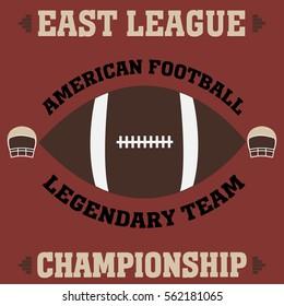 football east league t-shirt vintage - vector