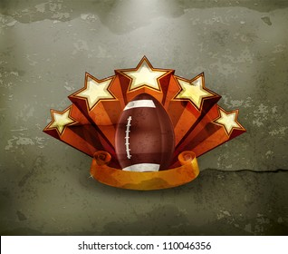 Football Emblem, old-style vector