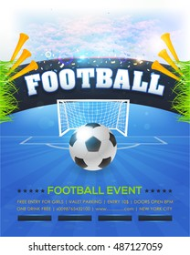 Football Event Poster Template Vector Background