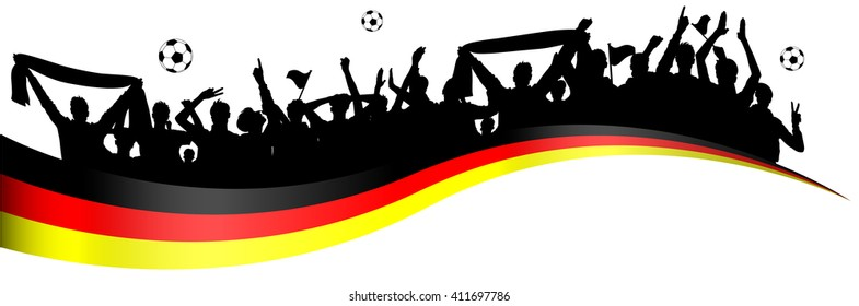 Fussball Fans Deutschland Stock Illustrations Images