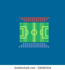 football field icon flat disign