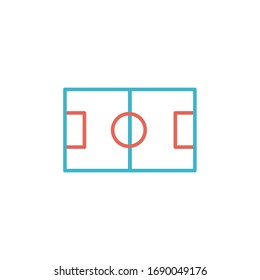 football field icon vector illustration. football field icon with two color line style design