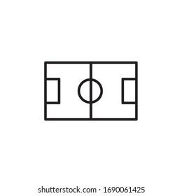 football field icon vector illustration. football field icon line style design