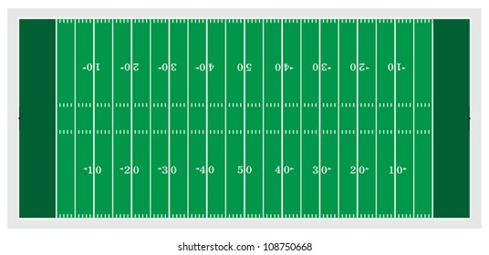Football Field is an illustration of a football field used in American type football.