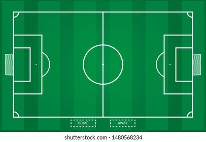 Football field ,on top view with bar pattern in Vector file