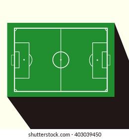 football field scheme, Soccer field, vector illustration