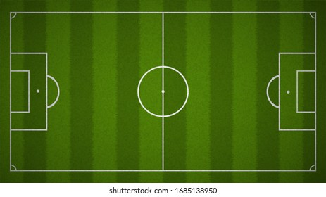 Football field or Soccer field background from top view,Vector and Illustration.