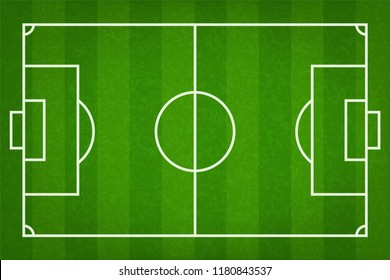 Football field or soccer field background. Vector green court for create soccer game.