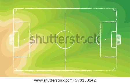football field soccer field chalk lines stock vector royalty free