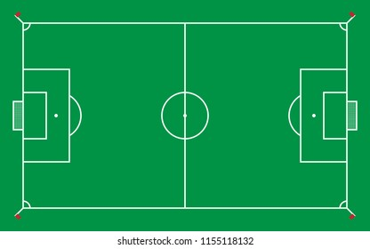 football field or soccer field for pattern and background,vector illustration.