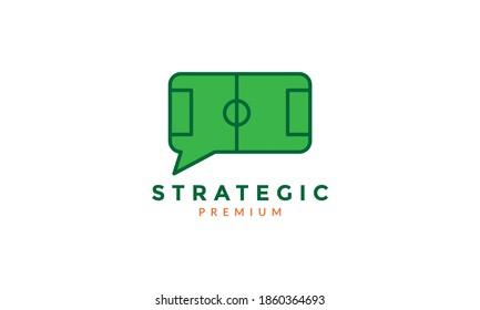 football field strategic logo vector icon illustration design