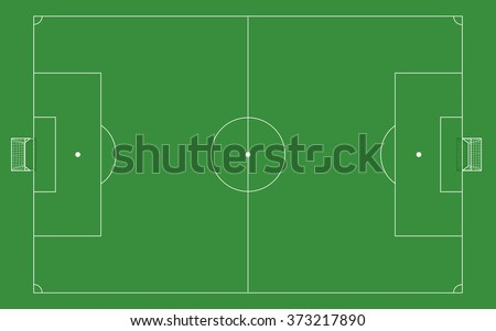 Football Field Template Goal On Top Stock Vector Royalty Free