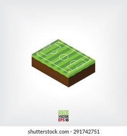 football field, vector
