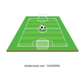 Football field with football vector