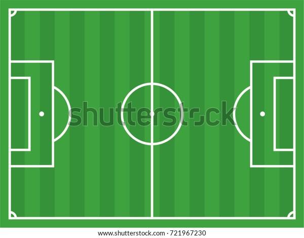 Football Field Vector Drawing Stock Vector Royalty Free 721967230