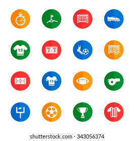 Football  flat icons for media