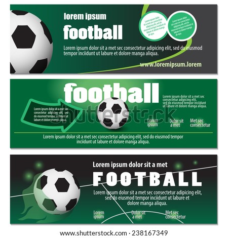 Football Flyer Template Vector Illustration Graphic Stock Vector