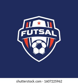 futsal logo images stock photos vectors shutterstock https www shutterstock com image vector football futsal shield logo vector 1607225962