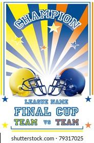 football game poster team vs team withe & black