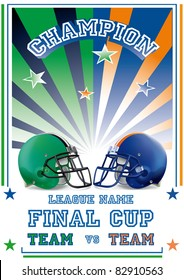football game poster team vs